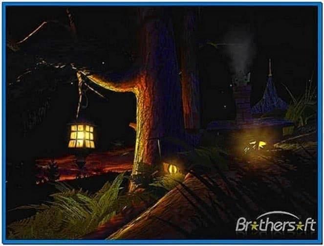Fantasy moon 3D screensaver