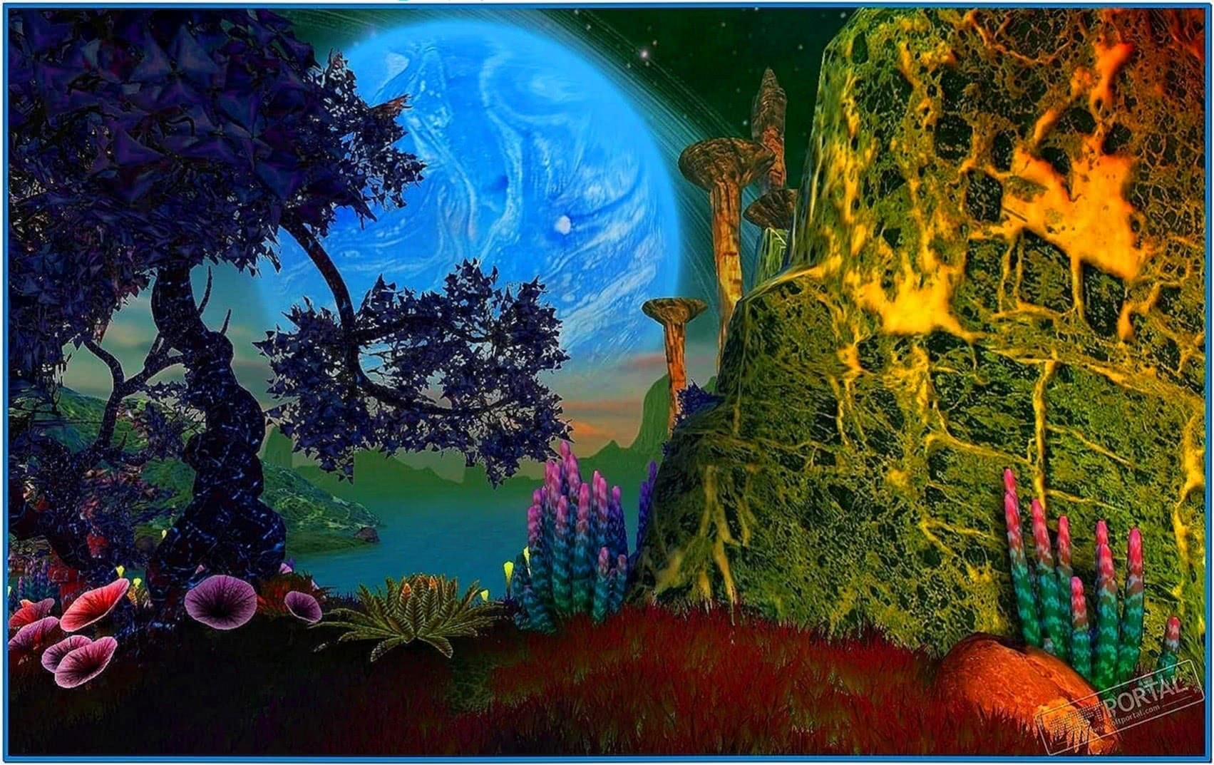 Faraway Planet 3D Screensaver