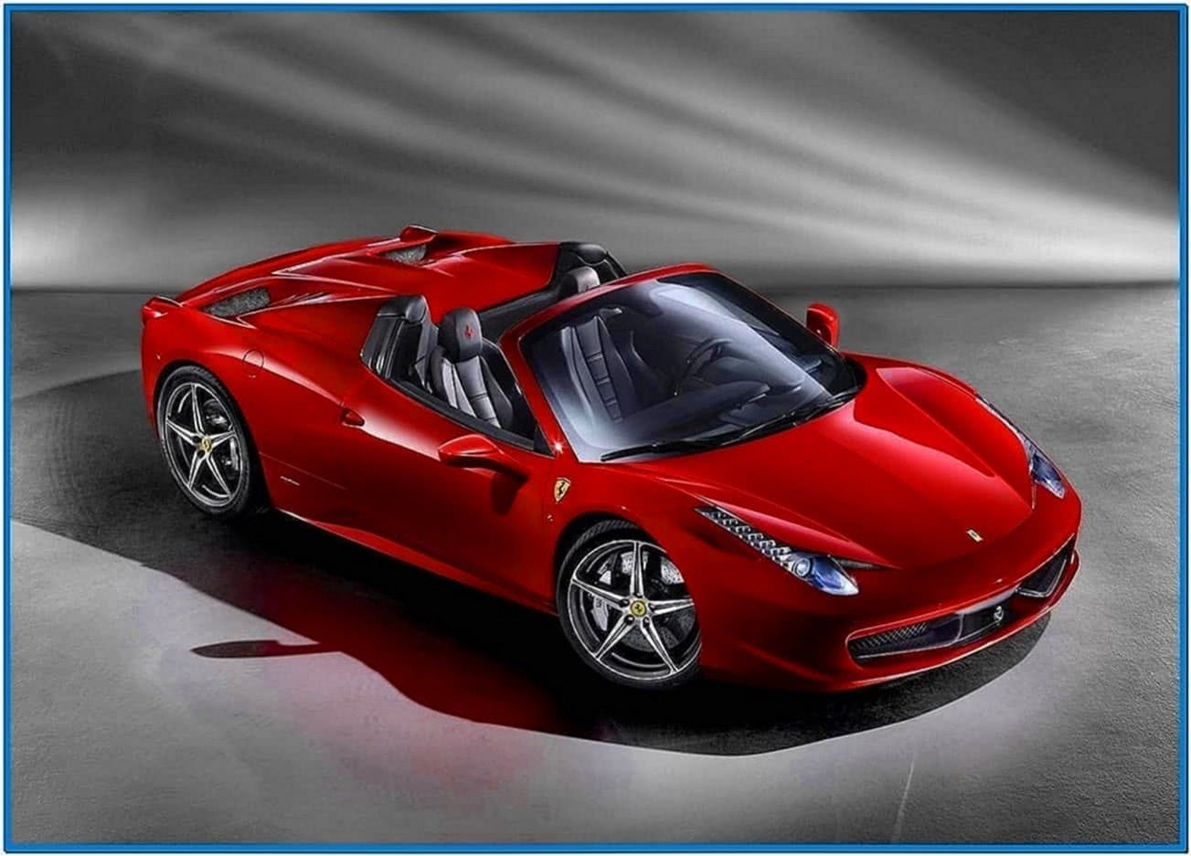 Ferrari 458 Italia Spider Screensaver
