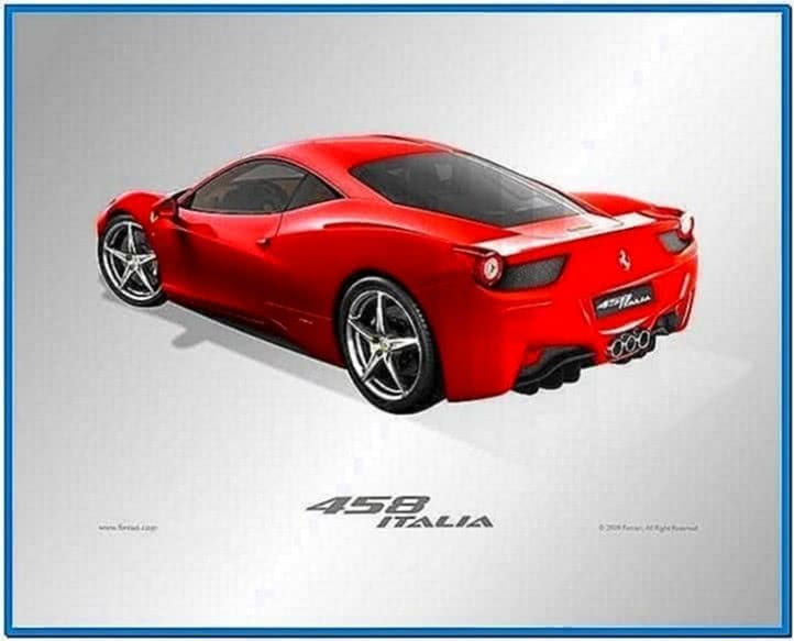 Ferrari 458 Screensaver
