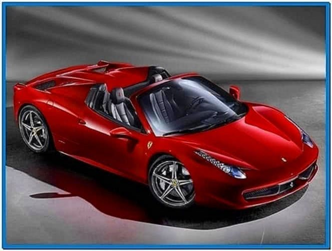 Ferrari 458 Spider Screensaver