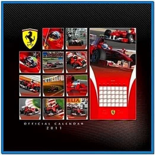 Ferrari Screensaver Calendar