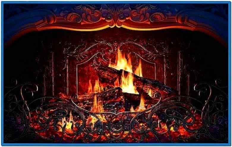 Fire or fireplace screensaver Mac