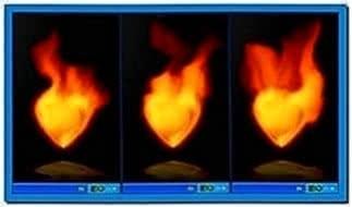 Fire Screensaver 1.47 Heart on Fire