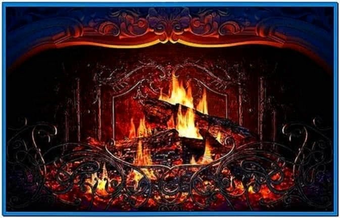 Free Fireplace Wallpaper: The Gallery For --> Animated Fireplace Screensaver Free