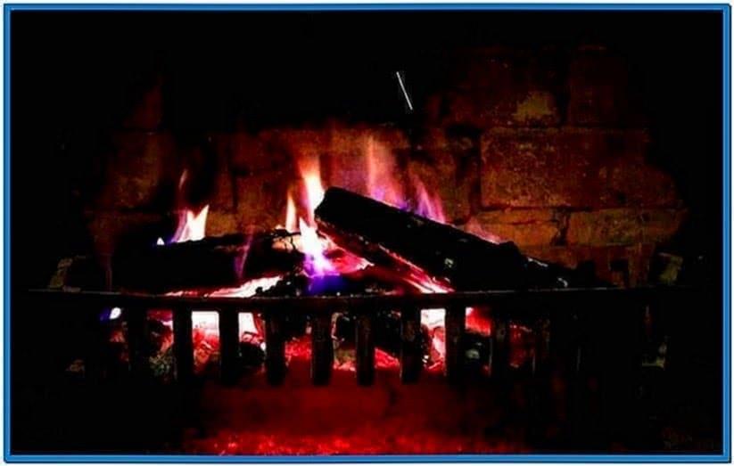 Fireplace HD Screensaver Mac