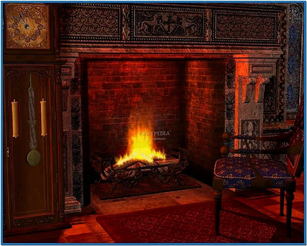 Fireplace Screensaver Animated