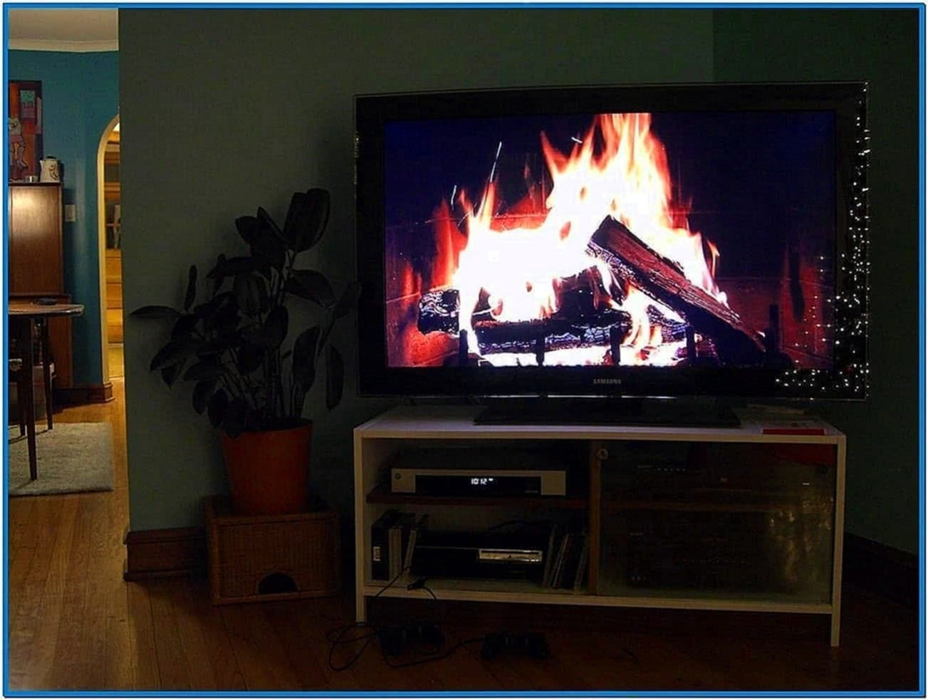 fireplace screensaver for lg tv download free