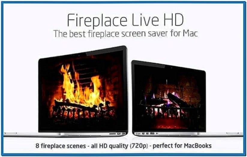 Fireplace Screensaver Mac OS X