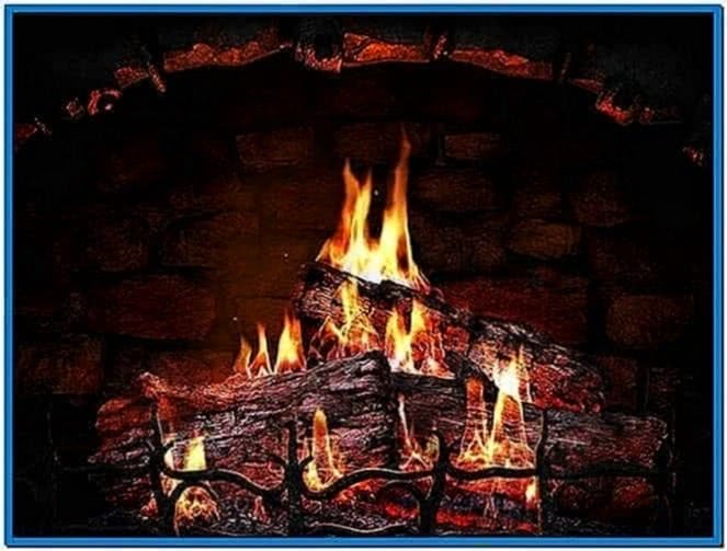 Fireplace Screensaver Realistic