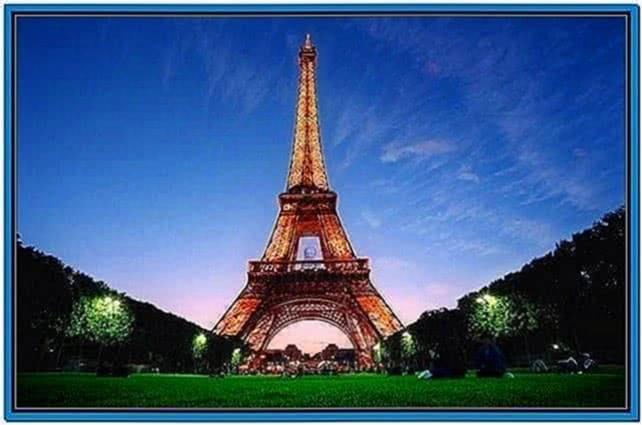 Fireworks From Eiffel Tower Screensaver