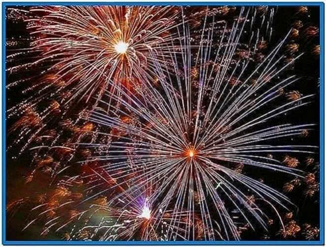 Fireworks screensaver animated