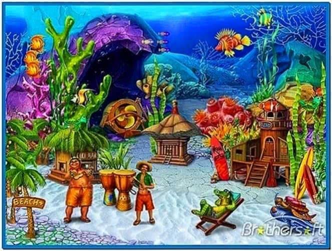 Fish aquarium 3D screensaver 1.0