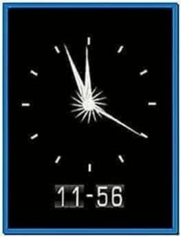 Flash Clock Mobile Screensavers