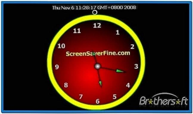 Flash Clock Screensaver