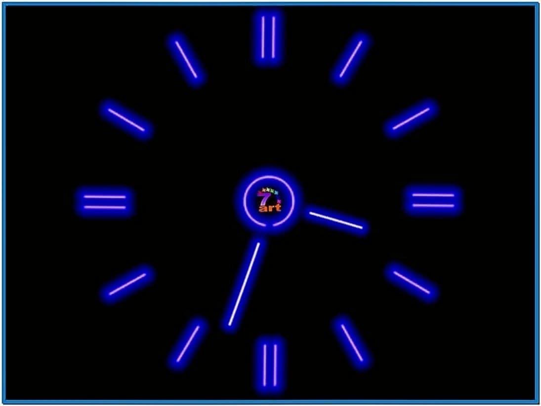 Flash Clock Screensaver