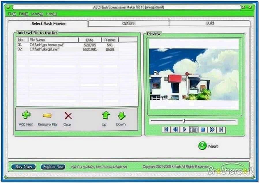 Flash Screensaver Builder 4.0