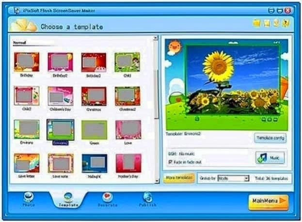 Flash Screensaver Software