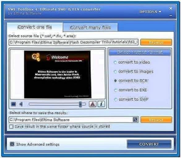 Flash to Screensaver Converter