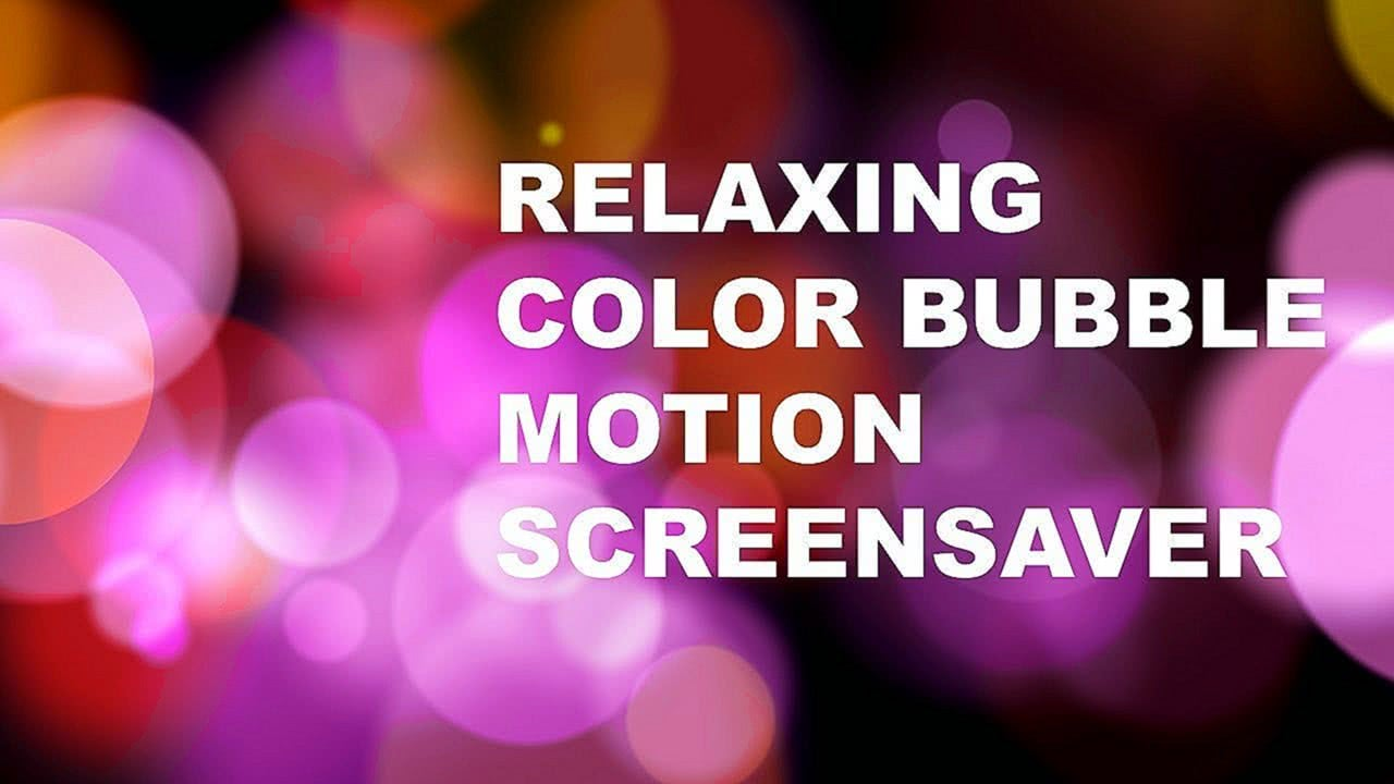 HD Relaxing Motion Screensaver Pink Color Bokeh Particles