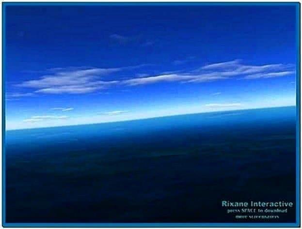 Flight Over Sea 3D Screensaver