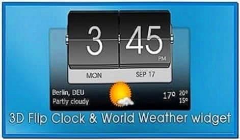 Flip clock 3D screensaver 1.03