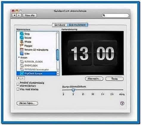 Flip clock Mac screensavers