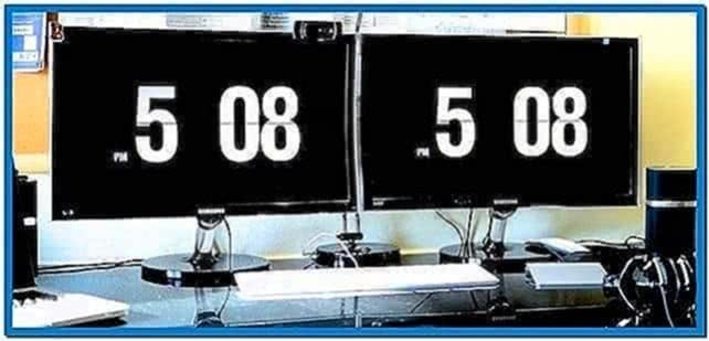 Flip Clock Screensaver for MacBook Pro