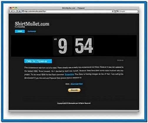 Flip Clock Screensaver Mac OS X Snow Leopard