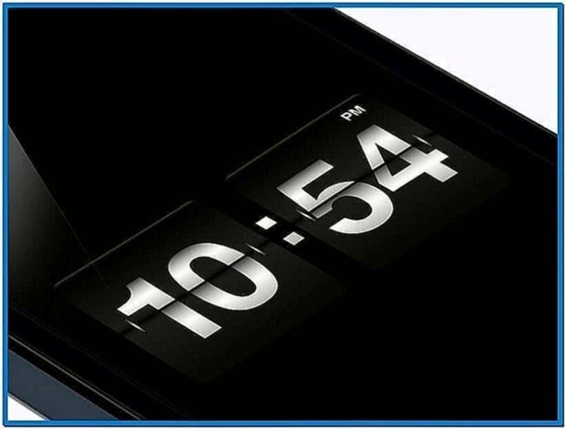 Flip Clock Screensaver Mountain Lion