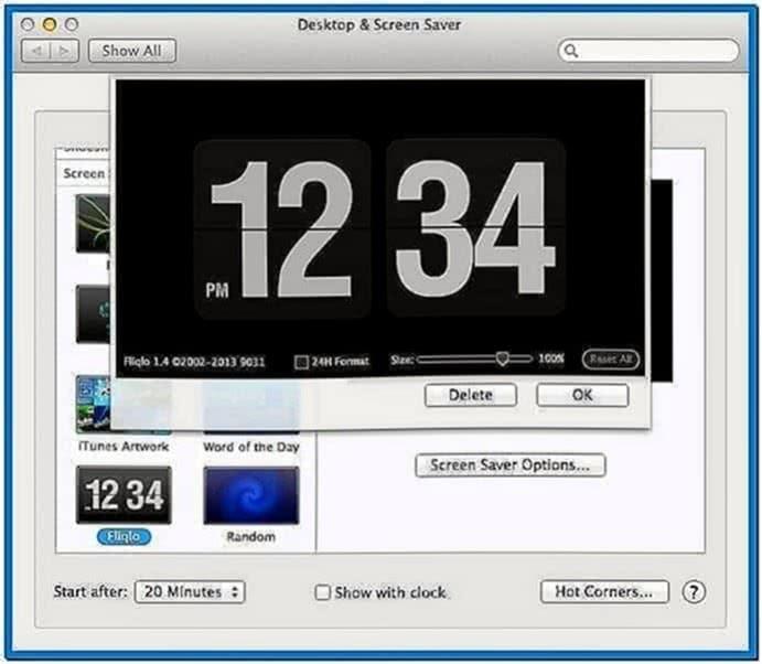 Fliqlo Screensaver 1.3.3