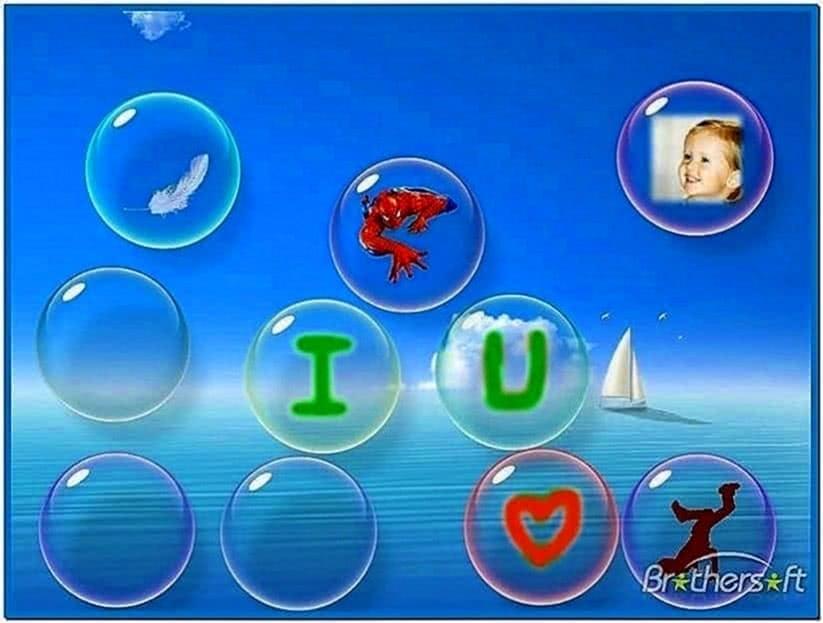 Flow bubbles screensaver Windows 7