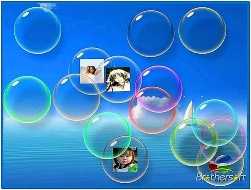 Flow Bubbles Screensaver Windows XP