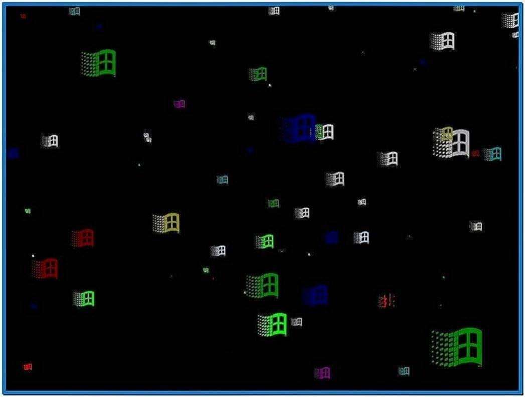 Flying Windows Screensaver