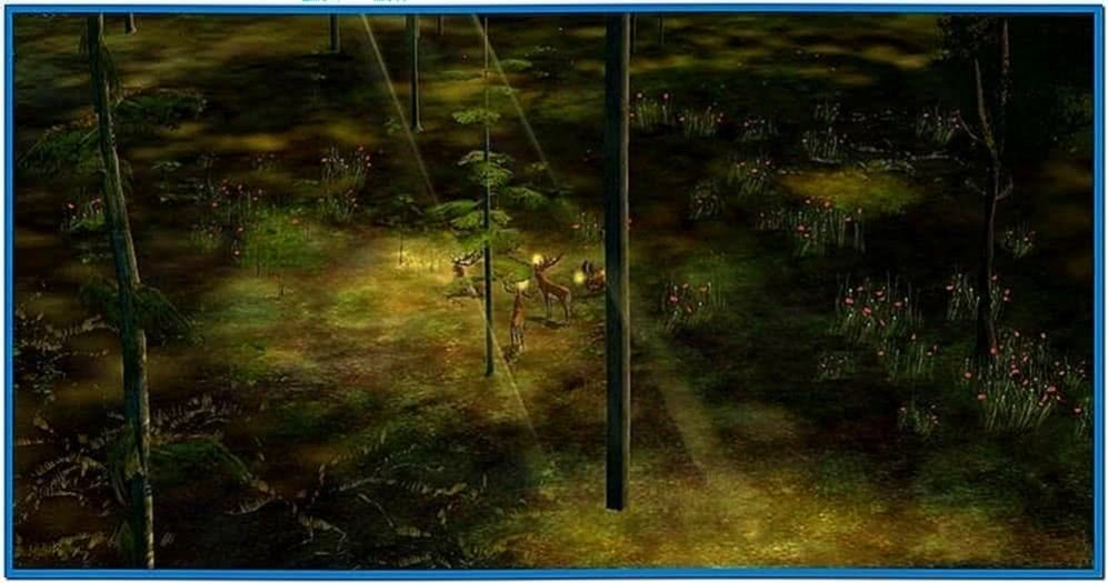 Forest Screensaver Game