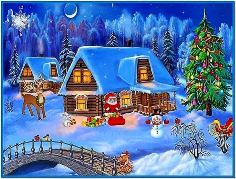 Freeware Animated Christmas Screensaver