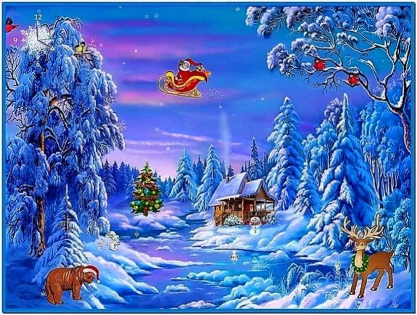 Freeware Animated Christmas Screensaver
