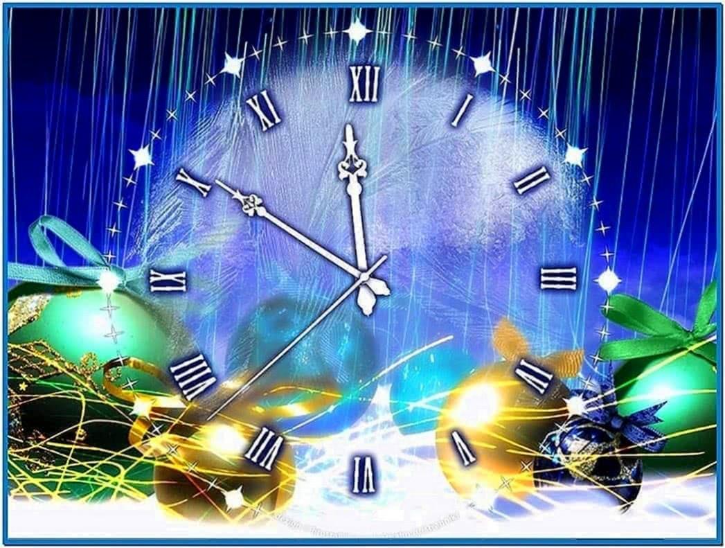 Friends Christmas Clock Screensaver 2.9