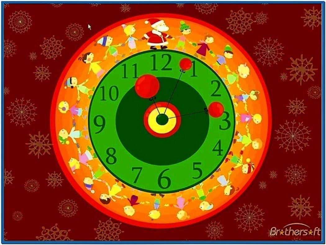 Friends Christmas Clock Screensaver 3.1