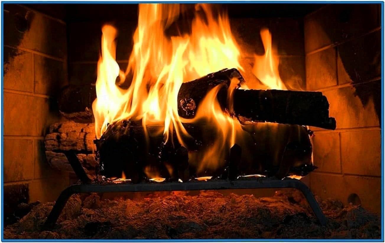 Full HD Fireplace Screensaver