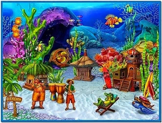Fun Aquarium 3D Screensaver Full