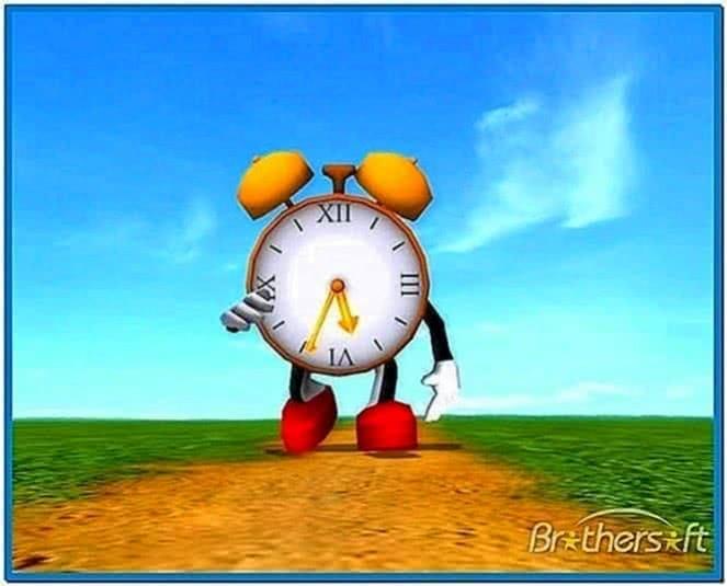 Free Funny Screensavers 2: Funny Clock 3d Screensaver 1.0