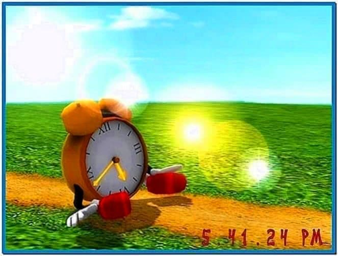 Funny Clock 3D Screensaver