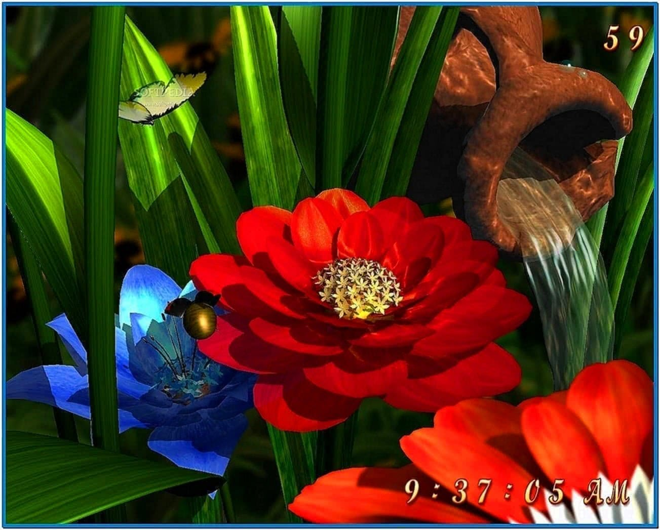 Garden Flowers 3D Screensaver
