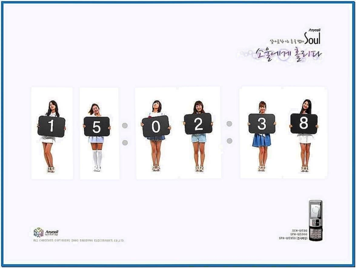 Girls Generation Screensaver Windows 7