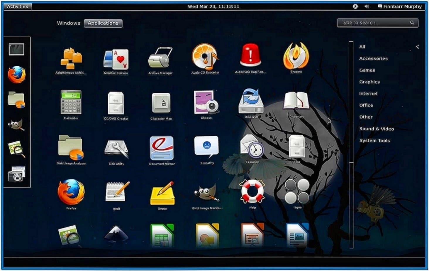 Gnome 3 Shell Screensaver