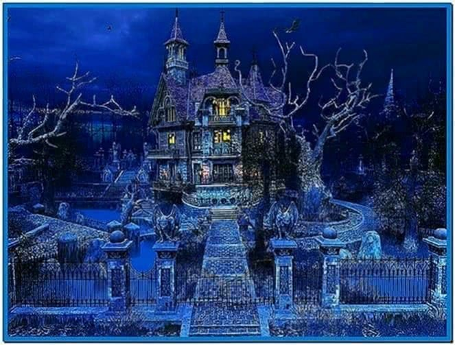 Halloween house 3D screensaver