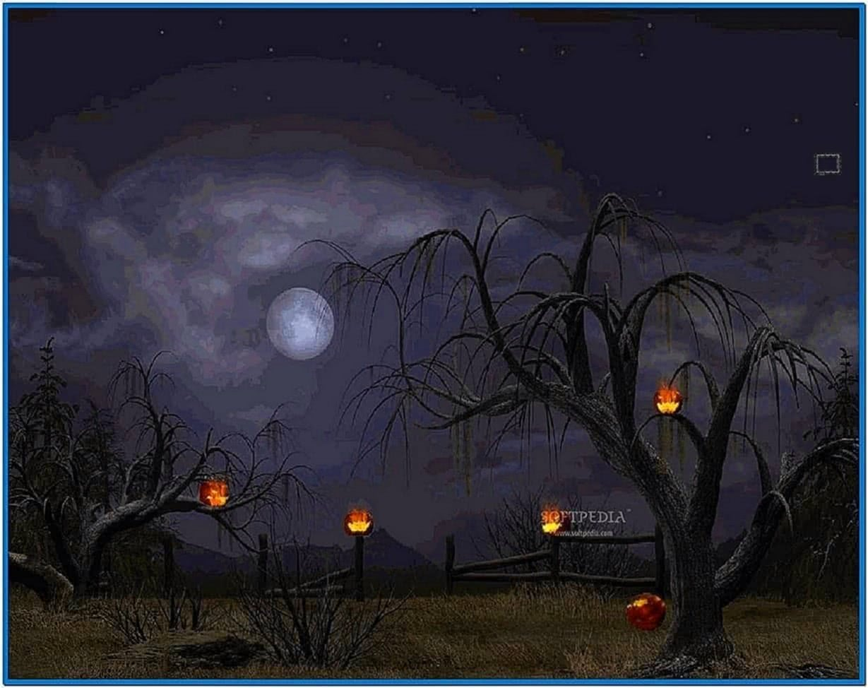 Halloween screensaver animation - Download free