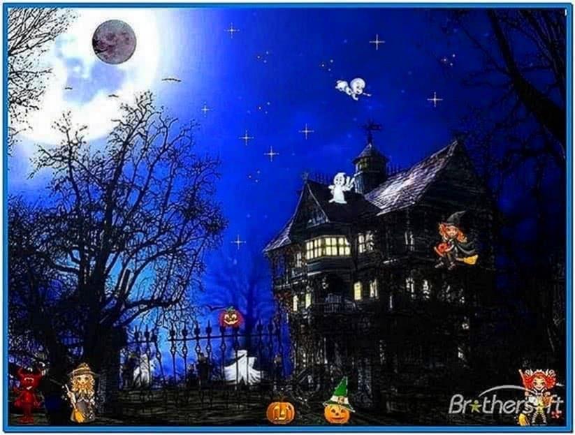 Halloween screensavers Windows vista