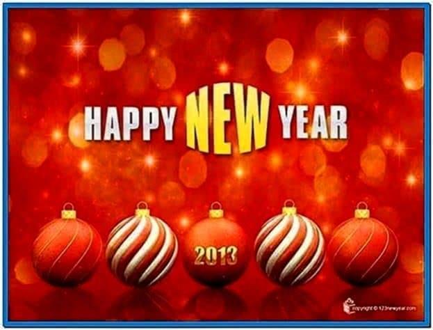 Happy New Year Clock Screensaver